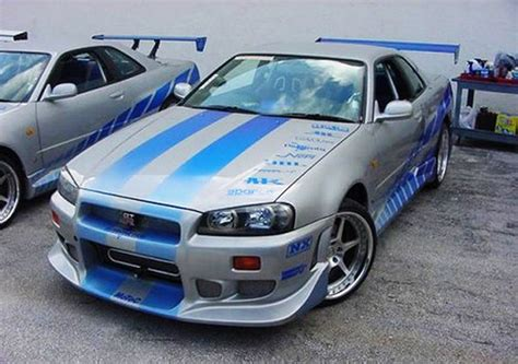 blue nissan skyline fast and furious nissan skyline gtr r34 fast and furious 22 mobmasker