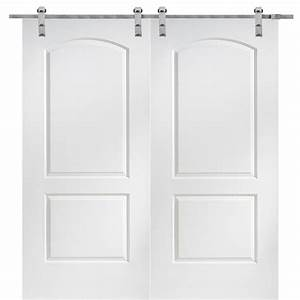 mmi door 60 in x 80 in primed molded mdf caiman barn With 60x80 barn door