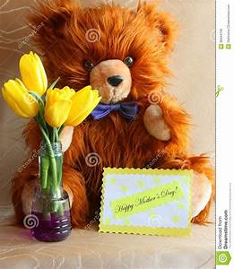 Mothers Day Card : Teddy Bear & Gift - Stock Photo Stock ...