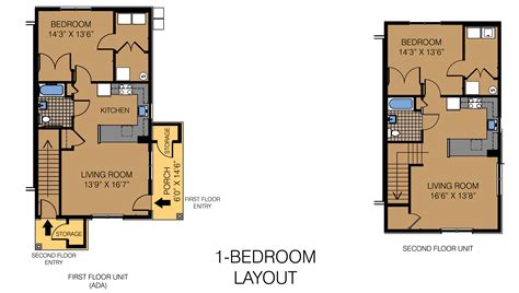 1 Bedroom Unit Layout by Fairview