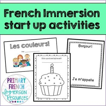french immersion start up activities by primary french