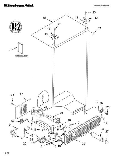 Kitchenaid Fridge Model Number by Kitchenaid Counter Depth Refrigerator Parts Model