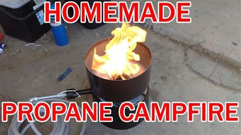 Make Your Own Propane Campfire Cheap Diy Homemade Lp  Ee  Gas Ee