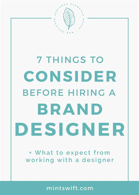 7 Things To Consider Before Hiring A Brand Designer