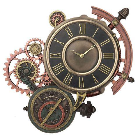 horloge avec m 233 canisme rouages engrenages d 233 coration murale retro steunk jules vernes