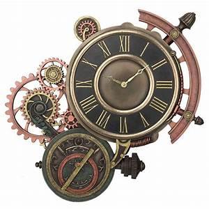 Mecanisme Horloge Geante : horloge avec m canisme rouages engrenages d coration murale retro steampunk jules vernes ~ Teatrodelosmanantiales.com Idées de Décoration
