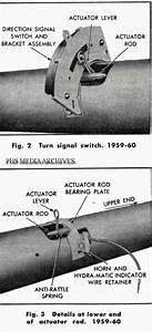 Service Manual  1966 Pontiac Bonneville Turn Signal Switch Removal Diagram