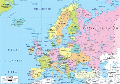 europe map map pictures