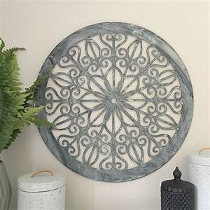 decorative round metal wall panel garden art screen wall With outdoor wall decor