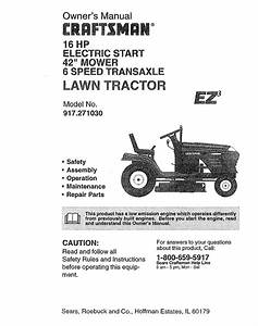 Craftsman Lawn Mower 917 27103 User Guide