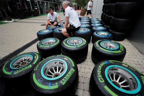 Formula One's 'rainbow Range' Of Tyres Simplified For 2019