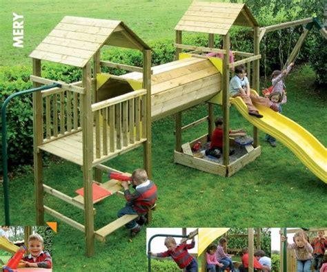 jeux en bois extérieur jeux enfants exterieur meryk small backyard jeux