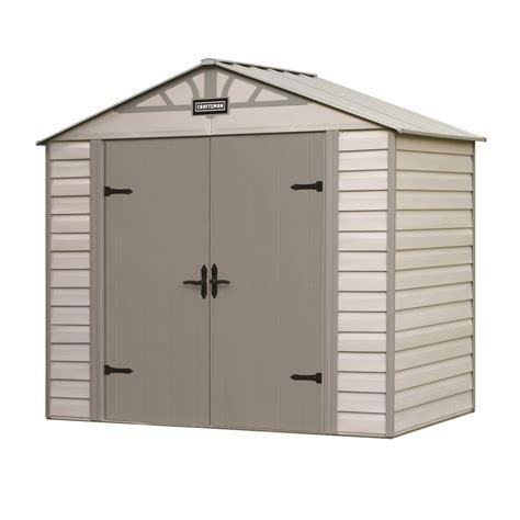 craftsman 8 39 x 5 39 vinyl coated steel shed durable storage