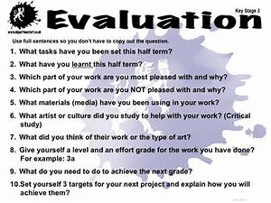 ks3 evaluation education pinterest chang39e 3 With art evaluation template