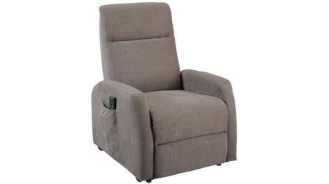 fauteuil d 233 tente 233 lectrique fonction releveur en microfibre grise pas cher