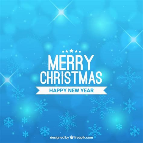 merry christmas light blue background vector free download