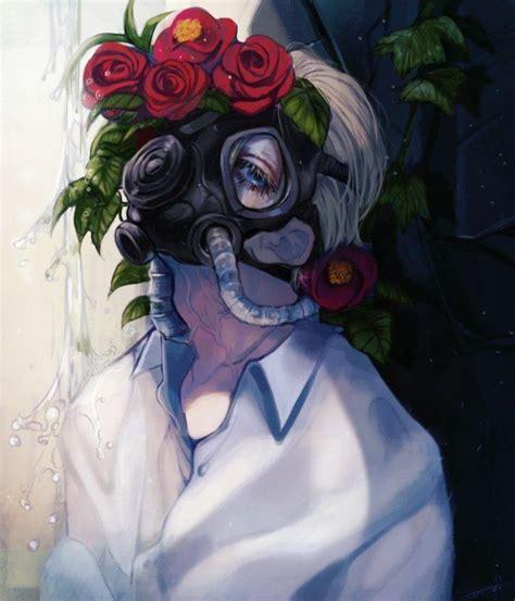 Gas Mask Anime ガスマスク イラスト ガスマスク カード イラスト