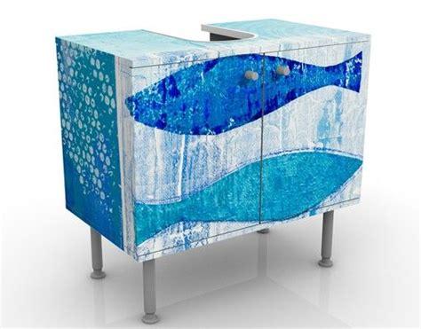 Badezimmer Unterschrank Maritim by Waschbeckenunterschrank Fish In The Blue Maritim