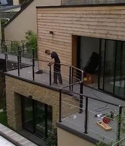 actualites echelle europeenne escalier helicoidal With modele de terrasse en bois exterieur 14 lescalier design moderne autoporteur suspendu metalique