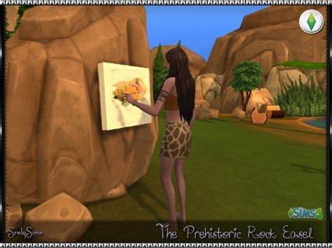 Prehistoric Rock Easel at SrslySims » Sims 4 Updates