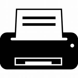 Printer machine variant with paper prints Icons | Free ...