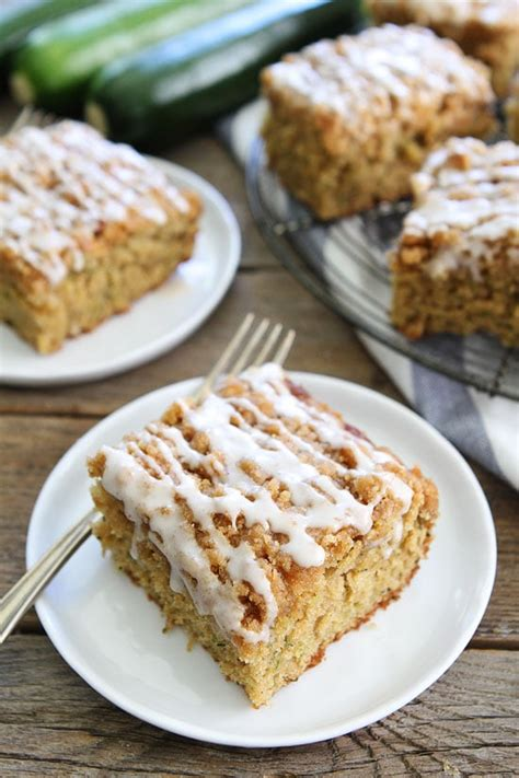 It will be your new favorite! Zucchini Coffee Cake Recipe | Two Peas & Their Pod