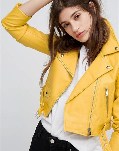 Bershka Riped Jacket 100k bershka bershka leather look biker jacket