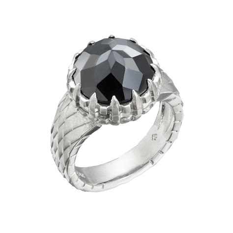 black spinel poison ring christopher duquet fine jewelry