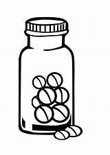 Medicine Coloring Pages Bottle Drawing Printable Pharmacist Pill Colouring Pills Sketch Getdrawings Template sketch template