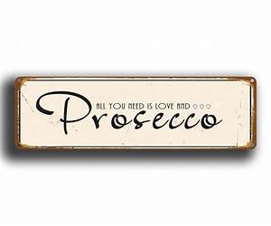 Prosecco Sign - Vintage Prosecco Sign Classic Metal Signs