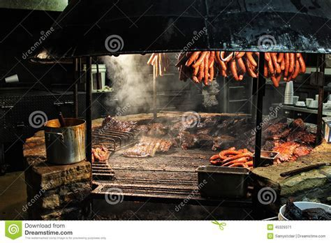 Texas Style Barbecue Pit Stock Photo   Image: 45329371