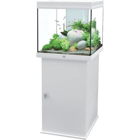 meuble aquarium blanc pas cher