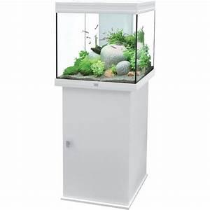 Meuble Blanc Pas Cher : meuble aquarium blanc pas cher ~ Dailycaller-alerts.com Idées de Décoration