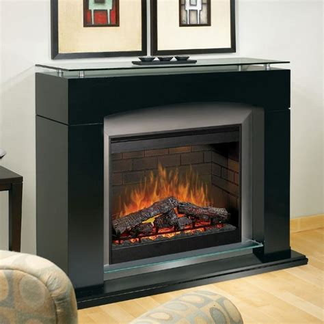 black fireplace mantel