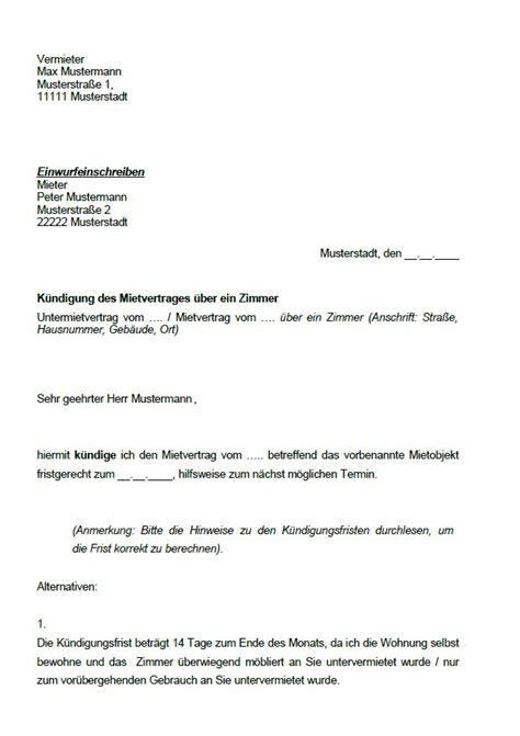 kuendigung mietvertrag vorlage kuendigung vorlage fwptccom