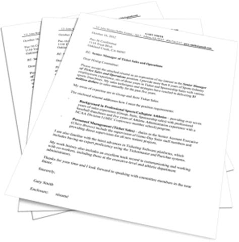 Espn Cover Letter by The Sports Resume Sports Networker