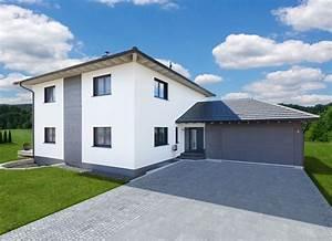 Stadtvilla Mit Garage : stadtvilla modern mit doppelgarage holz fertighaus ~ A.2002-acura-tl-radio.info Haus und Dekorationen