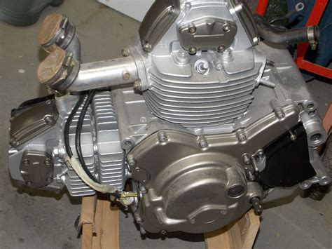 Engine After Painting The Cases And Valve Covers A Bronze