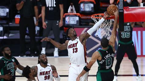 NBA Twitter goes crazy reacting to Bam Adebayo's block on ...