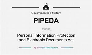Pipeda personal information protection and electronic for Personal documents definition