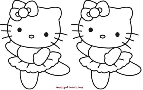 Kitty Ballet Coloring Pages