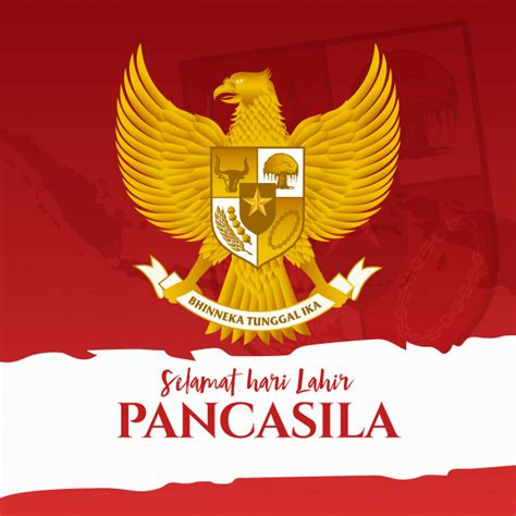 Namun, presiden indonesia, joko widodo (jokowi) menyatakan. Illustration. selamat hari lahir pancasila. translation: happy pancasila day. .   Premium Vector