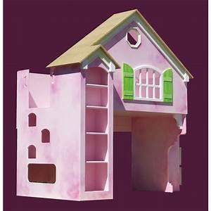 Dollhouse loft bunk bed plans woodworking projects plans for Dollhouse loft bed plans