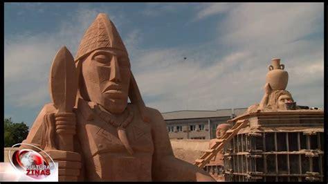 Āfrikas skaistums smilšu skulptūrās Jelgavā - YouTube
