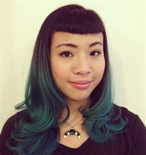 super chic medium hairstyles  bangs
