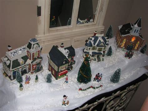 set   christmas village centerpiece