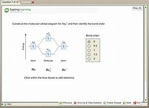 Solved  Construct The Molecular Orbital Diagram For He2  A
