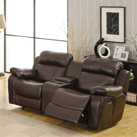 Furniture Loveseat Recliners by Furniture Reclining Loveseat With Center Console