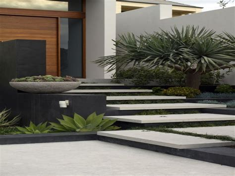 succulent landscaping modern contemporary front door
