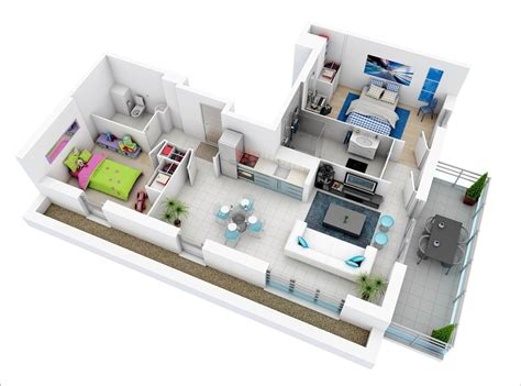 indoor pool house plans 10 awesome two bedroom apartment 3d floor plans